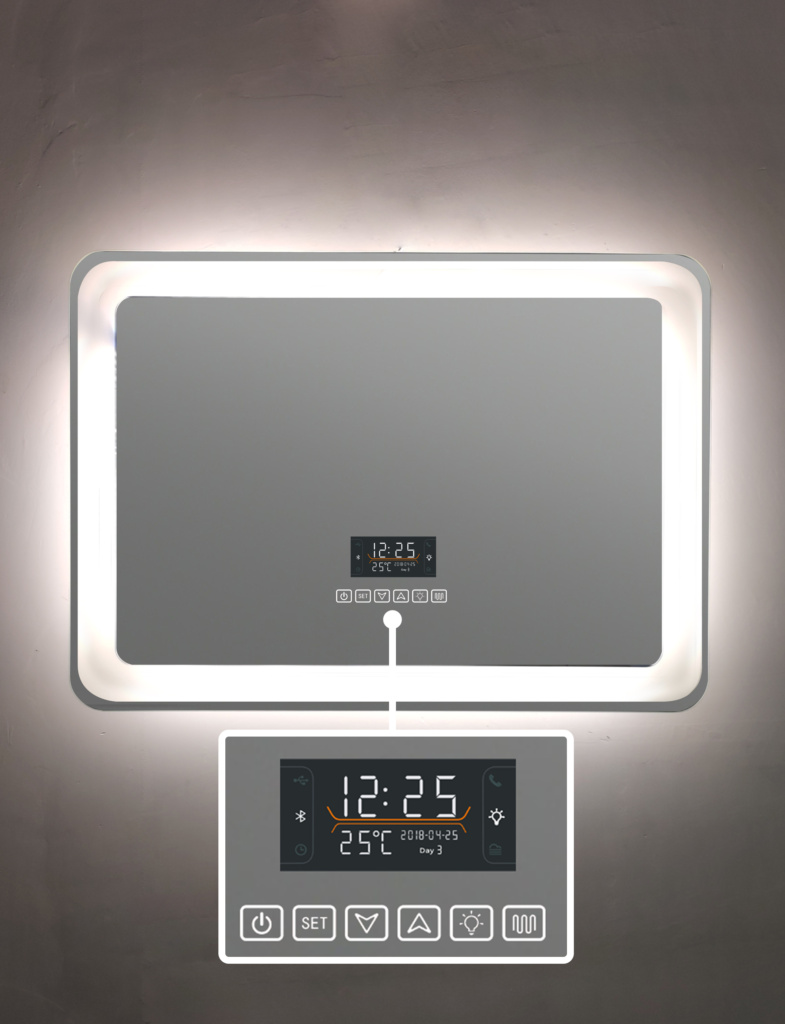 six Mirror touch with Bluetooth and Defogger